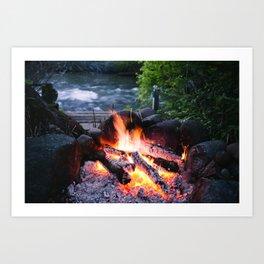River & Fire Art Print