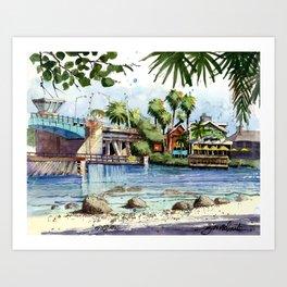 South Bridge on Siesta Key Art Print