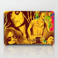 springsteen iPad Cases featuring The Seventies 1970's Alice Cooper, Jackson, Springsteen, Aerosmith by Storm Media