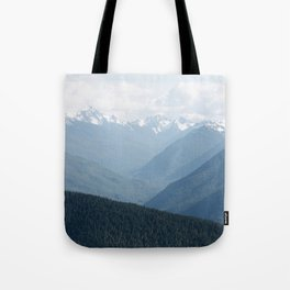 Olympic Mountains Tote Bag