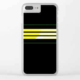 Team Colors 5...Yellow,green Clear iPhone Case