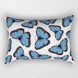 Blue morpho butterflies Rectangular Pillow