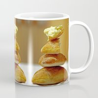 bread Mugs featuring Zen Bread by Joe Pansa
