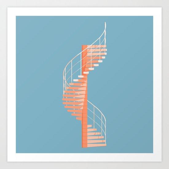 Helix Stair Art Print