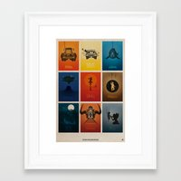 movies Framed Art Prints featuring Spielberg Movies by Alain Bossuyt