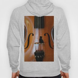 Black Cat And Violin #decor #society6 Hoody
