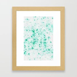 Aquamarine Ink Drops Framed Art Print