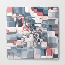 Layered Shapes Pattern Metal Print