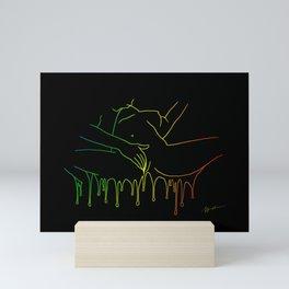 Colorful Climax line rainbow Mini Art Print