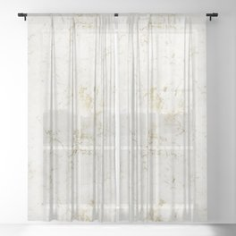White & Gold Marble Sheer Curtain