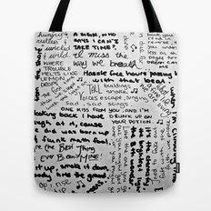 Song Lyrics Tote Bag