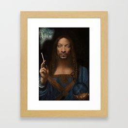 Sativator Mundi Framed Art Print