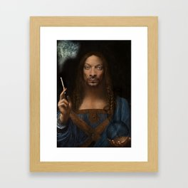 Sativator Mundi Framed Art Print