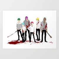 kuroko Art Prints featuring Teikou Murder Club by Vicky Newberry
