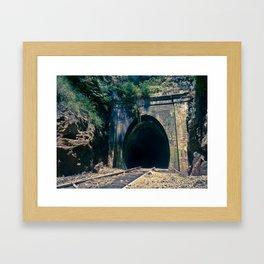 Train Tunnel Entrance #2 Framed Art Print