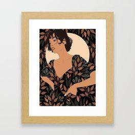 Fall Lover (Black) Framed Art Print