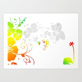 Kringel Circle Flowers Art Print