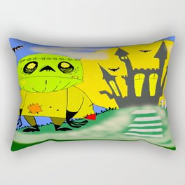 Franken Zombie Night Rectangular Pillow