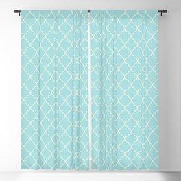 Quatrefoil Sea Kiss Blackout Curtain