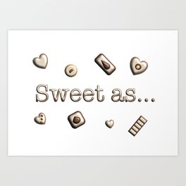 Sweet as Art Print