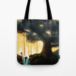 A Step Toward the Magical Wood Tote Bag