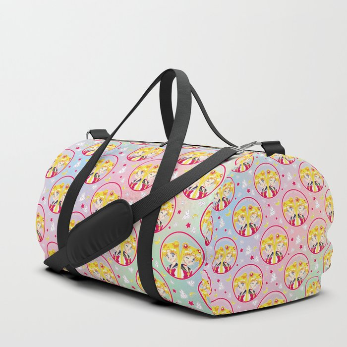 Usagi Tsukino VS Sailor Moon pattern Duffle Bag