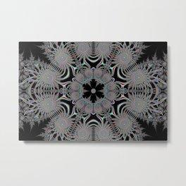 Coloured Snowflake Metal Print