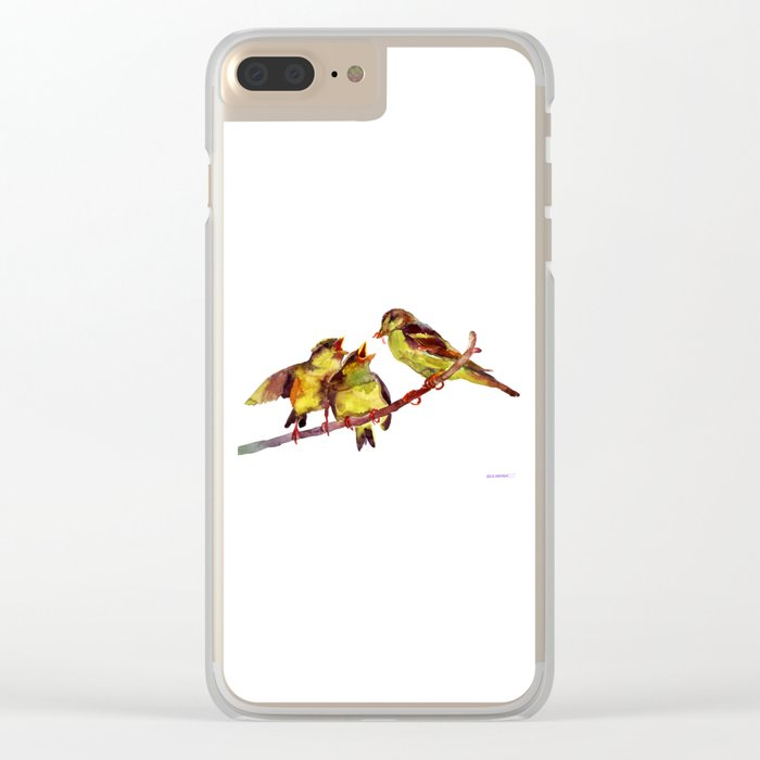 Sparrows kids and mum Clear iPhone Case