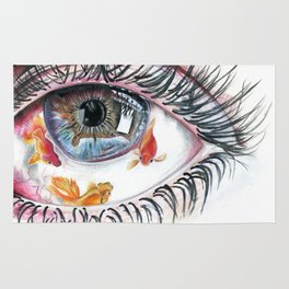 Koi Fish in Eye Rug