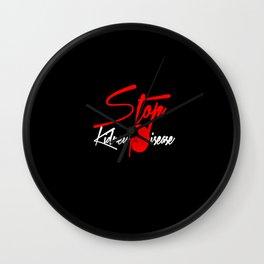 Stop Kidney Disease - Black Wall Clock