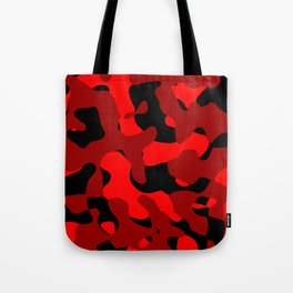 Black and Red Camo abstract Tote Bag