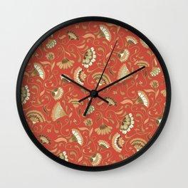 Jardín rojo Wall Clock