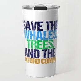 Save The Oxford Comma Travel Mug
