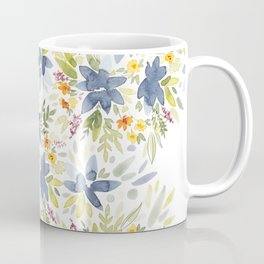 Blue Watercolor Florals Coffee Mug