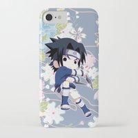 sasuke iPhone & iPod Cases featuring Chibi Sasuke Uchiha by Neo Crystal Tokyo