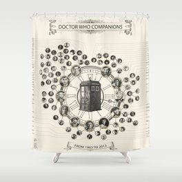 Doctor Who Companions poster Shower Curtain