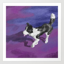 Purple Dog Park Art Print