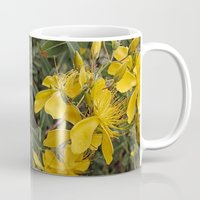 marc johns Mugs featuring Beautiful St Johns Wort by Wendy Townrow