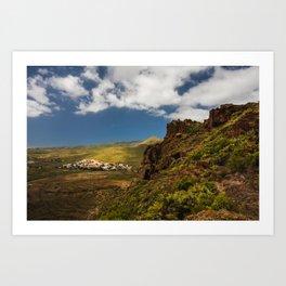 Green landscape from Gran Canaria Art Print