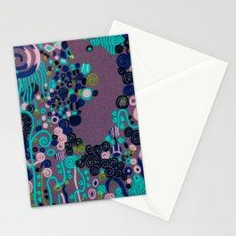"""Gustav Klimt """"Textile design - Model 2"""" edited (1) Stationery Cards"""
