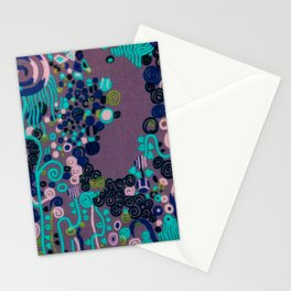 "Gustav Klimt ""Textile design - Model 2"" edited (1) Stationery Cards"
