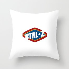 Ctrl Z cleaning products Throw Pillow