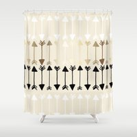 arrows Shower Curtains featuring Arrows by Tangerine-Tane