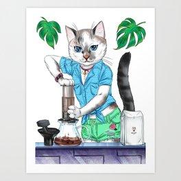 AeroPURRess coffee. AlterCATive brewing Art Print