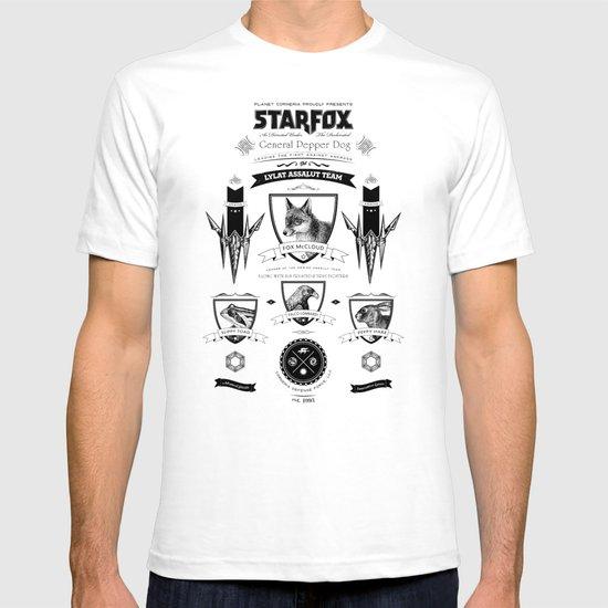 Star Fox Vintage Poster Geek Line Artly T-shirt