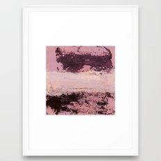 burgundy rose Framed Art Print