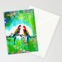 Green and Fresh Stationery Cards