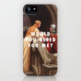Edmund Leighton, God Speed (1900) / Halsey, Trouble (2014) iPhone Case