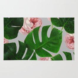 Monstera & Rose Pattern #society6 #decor #buyart Rug