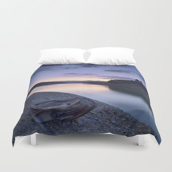 """""""Mountain light"""". Blue sunset. Duvet Cover"""
